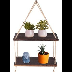 Other - 2 Tier Solid Wood Hanging plant Shelves New